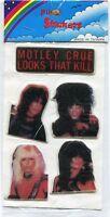 MOTLEY CRUE 1983 Puffy Stickers vince niel nikki sixx tommy lee mick mars NIP