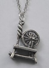 Chain Necklace #2030 Pewter SPINNING WHEEL (19mm x 14mm)