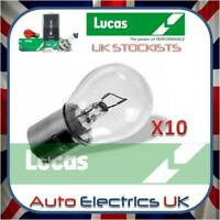 10x Lucas 382 12V 21W Bulb Stop Side Flasher Stop Tail Brake Car Fog Single Pin