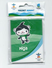 "CANADA 2010 VANCOUVER OLYMPIC WINTER GAMES "" MIGA "" FRIDGE MAGNET BRAND NEW"