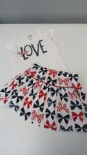 GYMBOREE 4th of July 2014 Skort w/Patriotic Bows & Love Shirt Size 5 NEW TL63