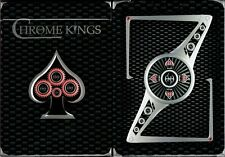 Chrome Kings Carbon Playing Cards Poker Size Deck USPCC Custom Limited Edition