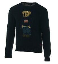[139 96] Polo Ralph Lauren Mens Navy Blue Polo Bear Crewneck Sweater X-Large XL