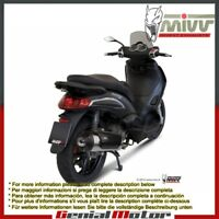 Mivv Approved Complete Exhaust Urban Steel Piaggio Beverly 250 2005 05