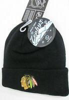 Chicago Blackhawks Hat Knit NHL Cuffed Winter Beanie Zephyr Cap