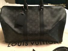 LOUIS VUITTON LV Keepall 45 Bandouliere Monogram Eclipse Duffle Bag Luggage