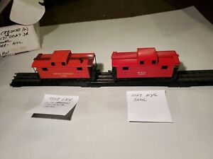 Lionel Pre War 00 Scale # 0017 PRR 0027 NYC Metal Cabooses 1938/42 One GC/VG