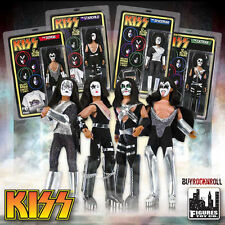 "KISS Collectibles: 2011 Retro Love Gun 12"" Doll Series One Set of 4 Figures"
