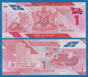 Trinidad and Tobago 1 Dollar P New 2020 (2021) UNC Polymer Low Shipping Combine