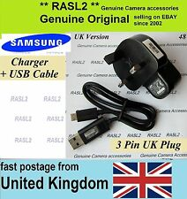 Genuine Samsung charger + USB cable ST66 ST68 ST75 ST76 ST77 ST78 WB36F WB37F