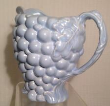 burleigh ware grape Pitcher Made in England Robins egg blue