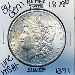 1879 O BU GEM MORGAN SILVER DOLLAR UNC MS+++ U.S. MINT RARE COIN 1391