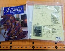 "Laura Farson's 10"" Sunny Puzzle Template Set + Ragged-Edge Flowers Book!"