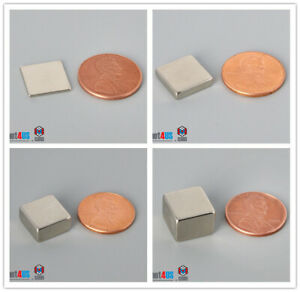 "Multiple Thickness 12.7mm 1/2"" Length Square Rare Earth Neodymium Block Magnets"