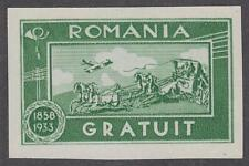 Romania Gratuit Mail Coach Cinderella Franchise Stamp imperf 1933