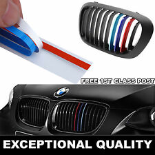 1 pc For BMW Grill M Sport Tech 3 Color Stripes Sticker Vinyl Decal Badge Emblem