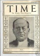 MAGAZINE TIME  Pope Pius XI           June 16  1924