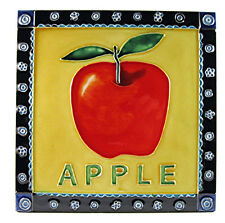 "Home and Garden Fruit Kitchen Art Tile ""Apple"" 8x8 Wall Countertop Accent Decor"