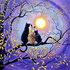 DIY Kits Cross Stitch Cat Diamond Painting Moonlight Three Diamond Embroidery