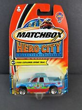 Matchbox 2004 Hero City Ford Explorer Sport Trac Blue Red #47 DieCast Car B5364