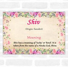 Certificado Floral Shiv nombre significado