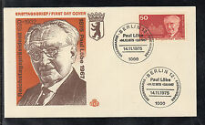 Germany Berlin 1975 FDC  - 100th birthday Paul Löbe Politican