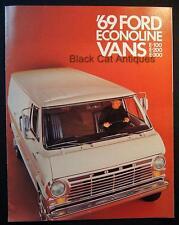 Original Vintage 1969 Ford Econoline Vans E-100, E-200, E-300 Dealer Brochure