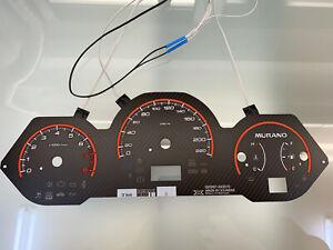 Nissan Murano Z50 plasma dials Tachoscheiben esferas glow gauges