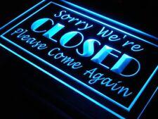 i102-b Sorry We're Closed Shop Close Neonschild Sign