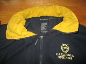 Beacon Point SARATOGA SPRINGS Embroidered (2XL) Hooded Jacket HORSE RACING