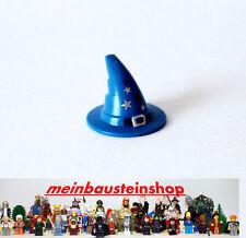 Lego® Minifiguren Zauberhut Hexenhut Hat Wizzard / Witch Blau bedruckt 6131pb04