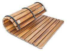 Alfombrilla 50x70 antideslizante cuadrada - Tarima para ducha en madera de Iroko