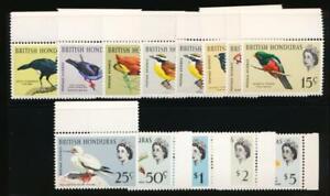 BRITISH HONDURAS 167-178 MINT NH BIRDS
