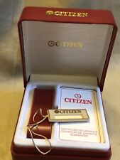 CITIZEN scatola box Uhrenbox Garanzia Inused + TAG Rare 80's