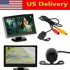 5inch TFT LCD Rearview Monitor Mini Camera For Car DVD GPS Reverse System E9B0