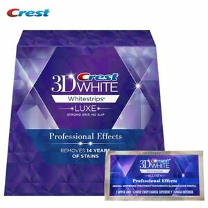 Crest 3D white Whitestrips Professional Effects One Box 40 Strips 20 Pouches New