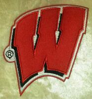 University of Wisconsin Badgers Iron On Embroidered Patch ~FREE Ship!!