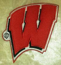 """University of Wisconsin Badgers NCAA 3"""" Iron On Embroidered Patch ~FREE Ship!!"""