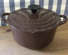 Le Creuset Brown B Lidded Enamel & Cast Iron Casserole Pot