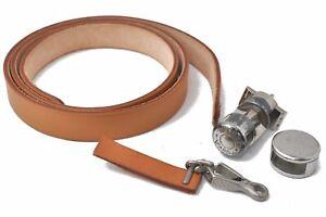 Authentic HERMES Shoulder Strap and Parts for Her Bag Stopper Beige D4883