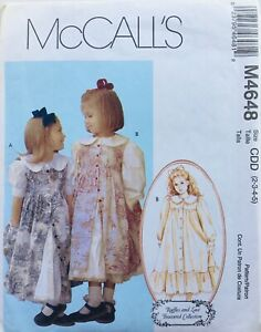 Modern GIRLS SWEET SPECIAL OCCASION DRESS Sewing Pattern AGE 2-5 (M4648) UNCUT