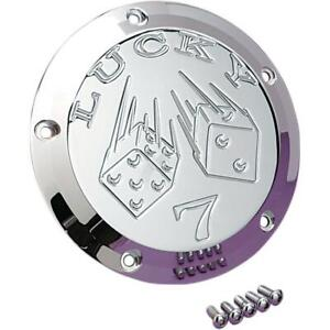 Joker Machine Chrome Lucky 7 5 Hole Derby Cover for Harley Twin Cam 99-16