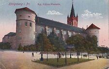 O 357 -Königsberg, Schloß - Westseite, 1918 gelaufen