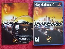 Need for speed undercover original black label SONY PLAYSTATION 2 PS2 pal très bon état