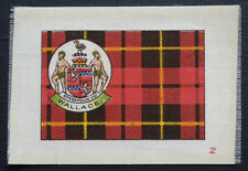 Wallace Clan Tartan and Coat of Arms Silk card issued in 1922