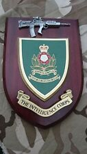The Intelligence Corps Regiment Military Wall Plaque + Pewter SA80