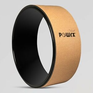 POWRX Yoga Wheel Professional Pilates Rückenstrecker Naturkork und TPE Yoga-Roll