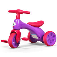 Children Toddler Tricycle Balance Bike Scooter Kids Riding Toys w/ Sound Seat