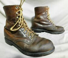 VINTAGE MENS RED WING BROWN LEATHER HIKING FARM WORK BOOTS US SIZE 9.5 EEE
