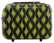 Hartschalen Reise Beautycase Handgepäck Motiv Retro Waves Yellow Gr. S